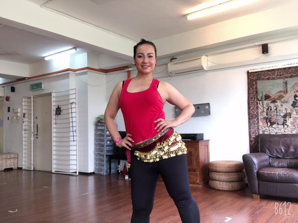 Paris at belly dancing class
